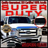 99-16 Super Duty F250-F550 Super Cab Window Deflector Vent Visors Guards w/ Logo