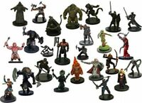 LOT OF ASSORTED D&D MINIATURES  (30 DIFFERENT Figures & SEALED With CARDS!!!)