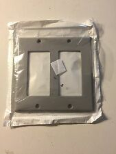 Leviton 80409-G 2-Gang Decora/Gfci Device Wallplate ,Device Mount, Gray Lot Of 9
