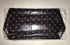 New Vintage MARY KAY Black & Pink Cosmetic Makeup Bag Travel Bag NOS