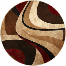 Abstract Area Rug Floor Carpet Contemporary Modern Living Room Decor Round 8 Ft