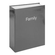 Celebrations 4 x 6 Family Photo Album Charcoal Grey