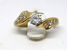 Engagement Ring 14k Gold Bypass Top Quality Diamonds 0.65pts Wholesale