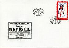 Czech Rep 2016 FDC Bartered Bride Comic Opera Bedrich Smetana 1v Cover Stamps