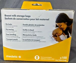 Medela Breast Milk 6oz Storage Bags - 100 count - Sealed New Box - Free Shipping