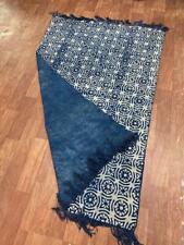 4x6 Ft Traditional Hand woven Kilim Block Printed Yoga Mat Carpet Floor Area Rug