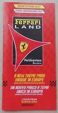 Ferrari Land Port aventura Barcellona 2017 brochure e i depliant no Press Folder