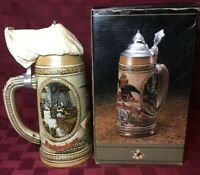Tomorrow's Treasures Anheusers Busch Budweiser King of Beers Lidded Stein Mug