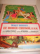 LT ROBIN CRUSOE USN 1974 RE-RELEASE DISNEY ORIGINAL 27x41 MOVIE POSTER (468)