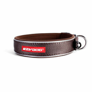 Ezydog Neo Classic Dog Collar Chocolate Brown