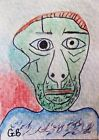 ACEO VERSION OF PICASSO'S 'SELF-PORTRAIT FACING DEATH' SIGNED ORIGINAL BY G BELL