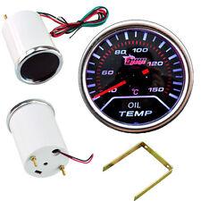 """Car Motor Universal Smoke Tint Len 2"""" 52mm Indicator Oil Temp Gauge Kit Meter YY"""