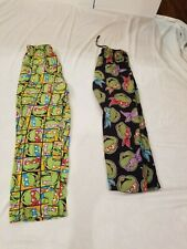 Pair Teenage Mutant Ninja Turtles S Pajama Pants Small Fleece and Cotton Lot 2