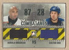 Donald Brashear C-19 2011-12 ITG Enforcers Combatants Jersey Duals Colton Orr
