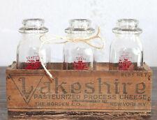 Vintage Glass Milk Bottles   Lot of 3   1/2 Pint   Jessup's  Near Mint Condition