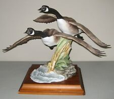 "Kaiser Porcelain Sculpture By Guiseppe Tagliariol ""CANADA GOOSE"" On Base"