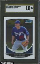 2013 Bowman Chrome Prospects Gold Label Corey Seager Dodgers SGC 10 GEM MINT