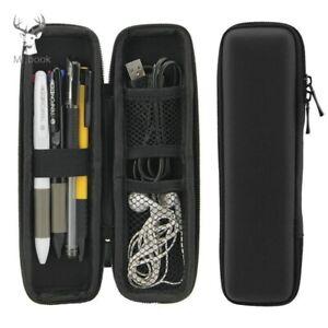 Black Zipper Pen Case Portable EVA Hard Shell pen Holder case Pouch Storage Bags