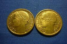 (A187) 2 pièces de 50 centimes Morlon 1939 en bronze alu, Spl