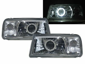 Sunrunner MK1 88-98 SUV Guide LED Halo Headlight Chrome V1 for Asuna RHD