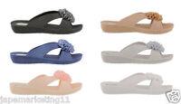 Ella Womens Nicki Low Wedge Slip On Sandals.