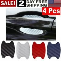 4pcs BLACK Anti-Scratch Sticker  Car Door Handle Protector Film Carbon Fiber