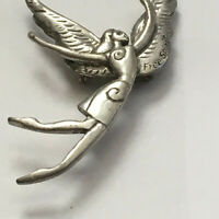 VINTAGE FREE SPIRIT LARGE PIN BROOCH WINGS ANGEL  ESTATE FIND