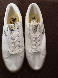 Lyle & Scott Halket Off White Men's Trainers Shoes Size UK size 7 RRP£48 VGC