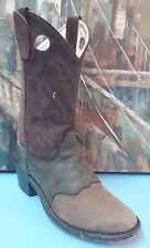 Old West Womens Brown Leather Cowboy Boots Sz 4