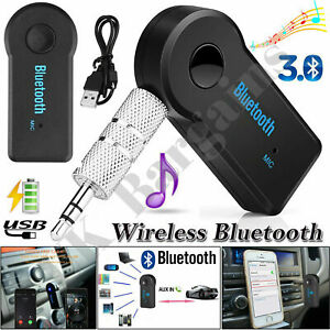 Car Bluetooth Receiver Audio Wireless Adapter 3.5MM AUX Transmitter For Music