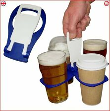 CarryAround Fold Away Cup Carrier Coffee Soft Drink Pint Beer Beverage Holder