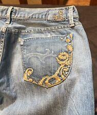 Gold Sign Goldsign Envy Denim Jeans Embroidered Pocket Light Wash Size 29 Nwot
