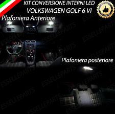 KIT LED INTERNI GOLF 6 VI PLAFONIERA ANTERIORE + PLAFONIERA POSTERIORE