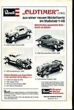 Revell--Oldtimer-- Teil 1 -- Revell Plastics GmbH--Werbung von 1977--