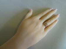 22k Gold ring (plated) CZ stones # 5, 6, 6.5, 7, 7.5 Pink, Red, Champagne, Blue