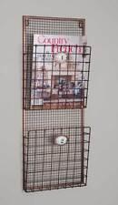 Farmhouse/Cottage/Primiti ve Hanging Wall Magazine Rack Organizer