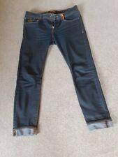Superdry Skinny Jeans W32 L30 Mens Dark Blue
