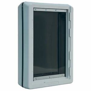 """Ideal Pet Products Ruff-Weather Pet Door Extra Large Grey 5.75"""" x 19.94"""" x 21.62"""
