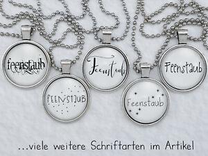 Spruchkette by Perletta 20 Texte Feenstaub in verschiedenen Schriftarten