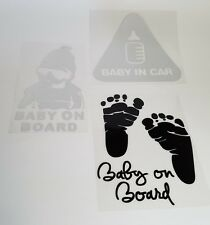 """3 Pack """"BABY ON BOARD"""" Vinyl Decal Sticker Car Window Gift for New Parents Baby"""