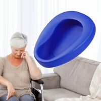 Reusable Blue Bed Potty Pot Container Bedpan for Male Female Depth 7.5cm