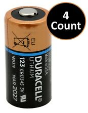 Duracell DL123A Lithium Battery CR123A - 4 Count Batteries - Exp. 3/2027