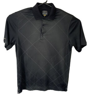 Greg Norman Golf Polo S/sleeve Play Dry Sz Small Dark Grey Pre Owned *L1