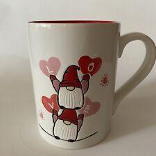 Tag Valentine's Gnome Mug Brand New Red White Pink