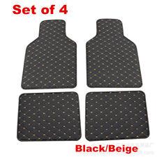 4x Car Floor Mats Front Rear Liner Pad Waterproof Car Mat Wear-resistant Leather