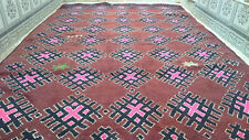 Vintage Moroccan Rug Handmade Azilal Rug Beni ourain Rug Wool carpet 6 x 9 ft