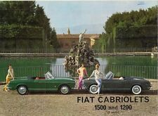Fiat 1200 & 1500 S Cabriolet 1960-61 UK Market Foldout Sales Brochure