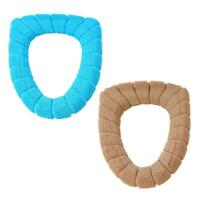 O Rings Bathroom Winter Toilet Seat Candy Color Thicken Warm Soft Toilet UP