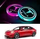 Tesla Model 3/Y/S/X LED Car Cup Holder Lights 7 Colors Cup Pad (2Pcs)
