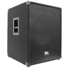 "SEISMIC AUDIO 18"" PA POWERED SUBWOOFER Speaker 800 Watt"